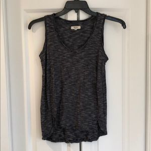Madewell black and white tank top